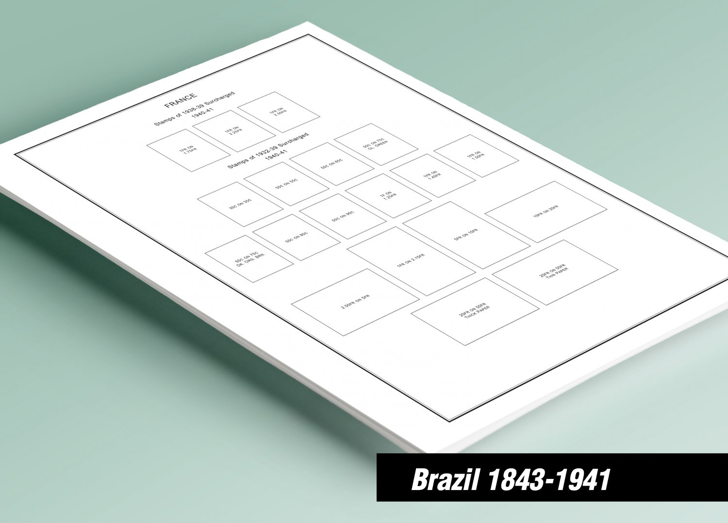 PRINTED BRAZIL [CLASS.] 1843-1941 STAMP ALBUM PAGES (53 pages)