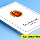 COLOR PRINTED EAST GERMANY 1949-1990 STAMP ALBUM PAGES (334 illustrated pages)