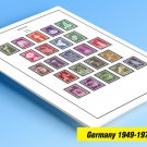COLOR PRINTED GERMANY 1949-1975 STAMP ALBUM PAGES (44 illustrated pages)
