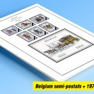 COLOR PRINTED BELGIUM SEMI-POSTALS 1976-1999 STAMP ALBUM PAGES (39 illustrated pages)