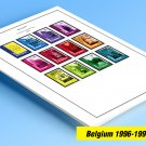 COLOR PRINTED BELGIUM 1996-1999 STAMP ALBUM PAGES (26 illustrated pages)
