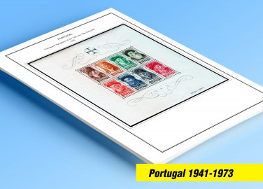 COLOR PRINTED PORTUGAL 1941-1973 STAMP ALBUM PAGES (58 illustrated pages)