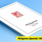 COLOR PRINTED PRINTED PHILIPPINES [SPANISH] 1854-1898  STAMP ALBUM PAGES (11 illustrated pages)