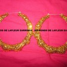 Crystal Bamboo Hoops Large Size