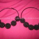 Crystal Ball Hoop Earrings