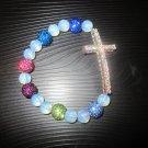 New Crystal Cross Bracelet with Swarovski Crystal Balls