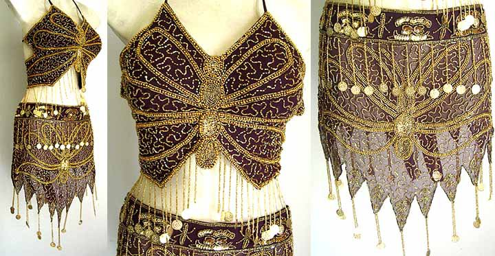 Belly Dance Costumes Black Dress A