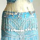 Belly Dancer Costumes Turqoise Dress AS Silver