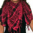 Plaid Check Scarf Black and Pink Arafat