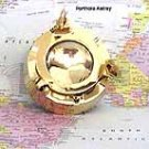 Brass Porthole Ashtray with Glass lid