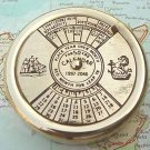 Brass Perpetual Calendar Paperweight 50 years