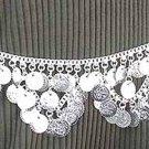 Belly Dancing Silver Belly Chain Coin Belt Waist Chain Design D