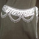 Belly Dancing Silver Belly Chain Coin Belt Waist Chain M