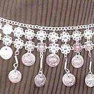 Silver Belly Chain Coin Belt Waist Chain T