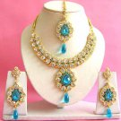 Indian Bridal Saree Jewelry Set Multicolor Stones NP-203