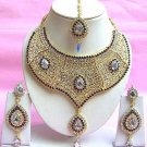 Indian Bridal Saree Jewelry Set Multicolor Stones NP-209