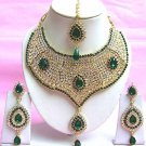 Indian Bridal Saree Jewelry Set Multicolor Stones NP-211
