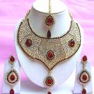 Indian Bridal Saree Jewelry Set Multicolor Stones NP-213
