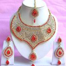 Indian Bridal Saree Jewelry Set Multicolor Stones NP-216