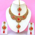 Indian Bridal Saree Jewelry Set Multicolor Stones NP-220