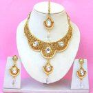 Indian Bridal Saree Jewelry Set Multicolor Stones NP-223