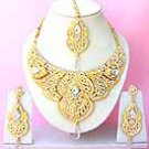 Indian Bridal Saree Jewelry Set Multicolor Stones NP-225