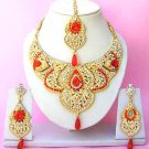 Indian Bridal Saree Jewelry Set Multicolor Stones NP-226
