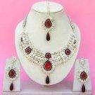 Indian Bridal Saree Jewelry Set Multicolor Stones NP-235