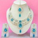 Indian Bridal Saree Jewelry Set Multicolor Stones NP-239