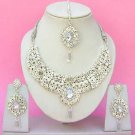 Indian Bridal Saree Jewelry Set Multicolor Stones NP-240