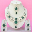 Indian Bridal Saree Jewelry Set Multicolor Stones NP-241