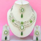 Indian Bridal Saree Jewelry Set Multicolor Stones NP-242