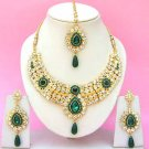 Indian Bridal Saree Jewelry Set Multicolor Stones NP-244