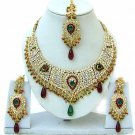 Indian Bridal Saree Jewelry Set Multicolor Stones NP-247