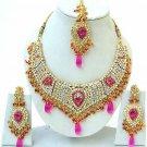 Indian Bridal Saree Jewelry Set Multicolor Stones NP-250