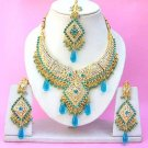 Indian Bridal Saree Jewelry Set Multicolor Stones NP-258