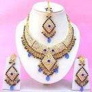 Indian Bridal Saree Jewelry Set Multicolor Stones NP-259