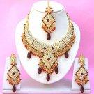 Indian Bridal Saree Jewelry Set Multicolor Stones NP-261