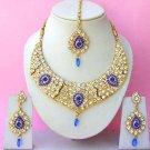 Indian Bridal Saree Jewelry Set Multicolor Stones NP-268