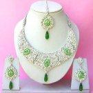 Indian Bridal Saree Jewelry Set Multicolor Stones NP-269