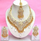 Indian Bridal Saree Jewelry Set Multicolor Stones NP-271
