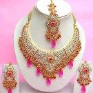 Indian Bridal Saree Jewelry Set Multicolor Stones NP-275