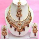 Indian Bridal Saree Jewelry Set Multicolor Stones NP-276