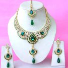 Indian Bridal Saree Jewelry Set Multicolor Stones NP-282
