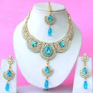 Indian Bridal Saree Jewelry Set Multicolor Stones NP-283