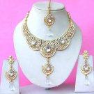 Indian Bridal Saree Jewelry Set Multicolor Stones NP-285