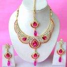 Indian Bridal Saree Jewelry Set Multicolor Stones NP-291