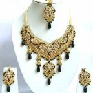 Indian Bridal Saree Jewelry Set Multicolor Stones NP-294