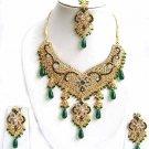 Indian Bridal Wedding Jewelry Set Multicolor Stones NP-300