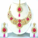 Indian Bridal Jewelry Necklace Set Multicolor Stones VS-1209